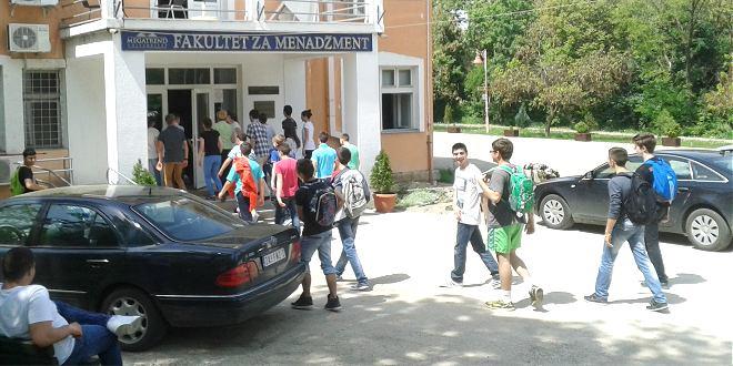 Sutra prijemni ispit na Fakultetu za menadžment u Zaječaru
