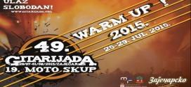 Gitarijada: Počinje WARM UP program na trgu