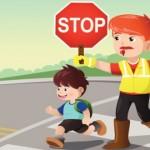 """Akcija """"Bezbednost dece u saobraćaju"""" u školi Desanka Maksimović"""