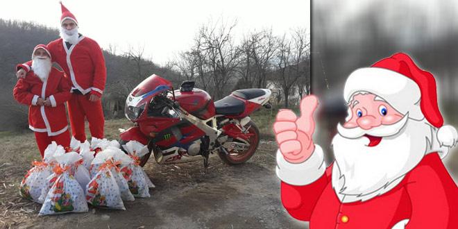 Moto klub Extreme Biker iz Malog Izvora obradovao mališane novogodišnjim paketićima