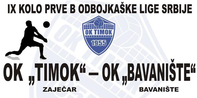 Sutra odbojkaši Timoka protiv ekipe Bavaništa