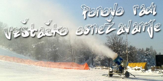 Ponovo rade topovi na ski stazi