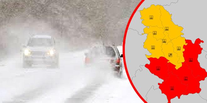 Istočna Srbija: CRVENI METEO ALARM I DALJE NA SNAZI -U Zaječaru -9, na Čestobrodici snežna vejavica…