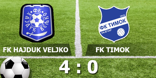 Timok slabiji od zonaša Hajduk Veljka