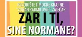 """Predstava """"ZAR I TI SINE NORMANE"""" sutra u zaječarskom pozorištu"""