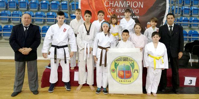 Uspešni karatisti Gradskog karate kluba Zaječar