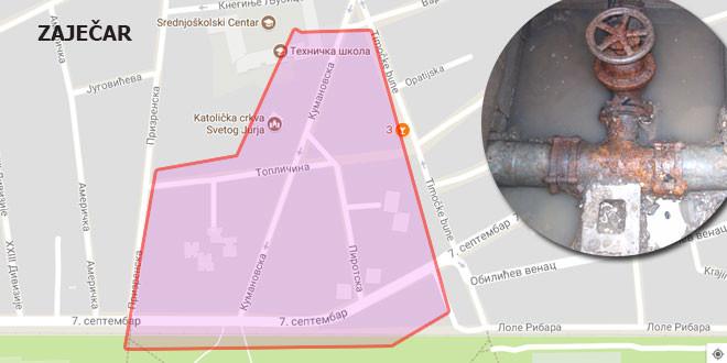 Kvar na vodovodnoj mreži! Pojedine ulice u Zaječaru BEZ VODE!
