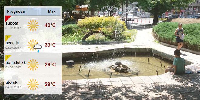 OPREZ: Temperatura u Zaječaru danas do 40 stepeni! A popodne…