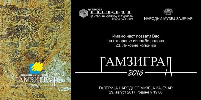 """Izložba radova 23. Likovne kolonije """"Gamzigrad 2016″ danas u zaječarskom muzeju"""