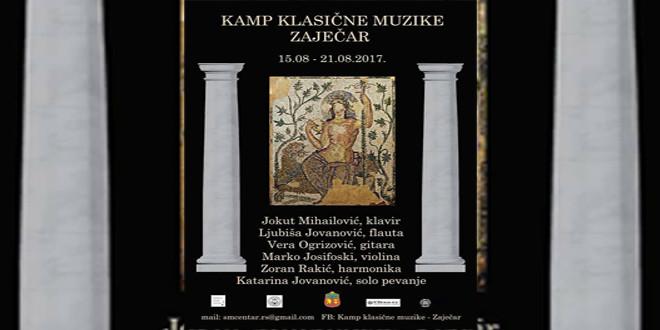 Kamp klasične muzike u Zaječaru od 15. do 21. avgusta