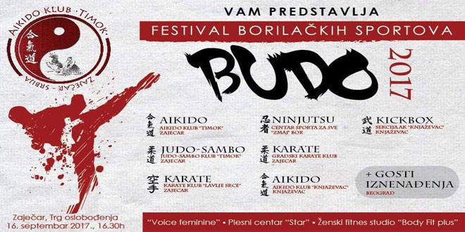 """""""Festival borilačkih sportova BUDO 2017."""" u subotu, 16. septembra u Zaječaru"""