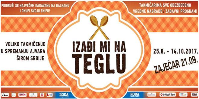 """Takmičenje za najbolji srpski ajvar """"Izađi mi na teglu"""" u Zaječaru, 21. septembra"""
