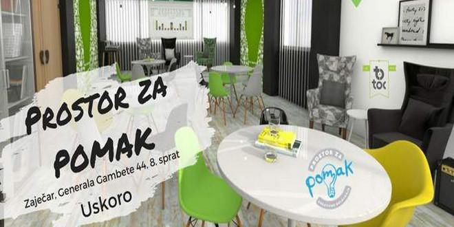 """TOC: Otvaranje """"Prostora za POMAK"""" u sredu, 25. oktobra u Zaječaru"""