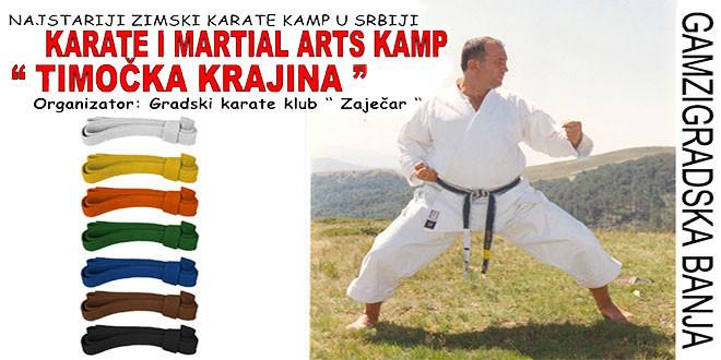 Zimski karate i Martial arts kamp od 1. do 4. februara u Gamzigradskoj banji