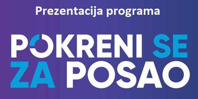 """Prezentacija programa """"Pokreni se za posao"""" 19. februara u Zaječaru"""