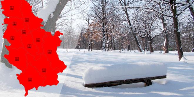 U SRBIJI JUTROS IZMERENO I DO -22, U ZAJEČARU -17: Od danas na snazi crveni meteoalarm