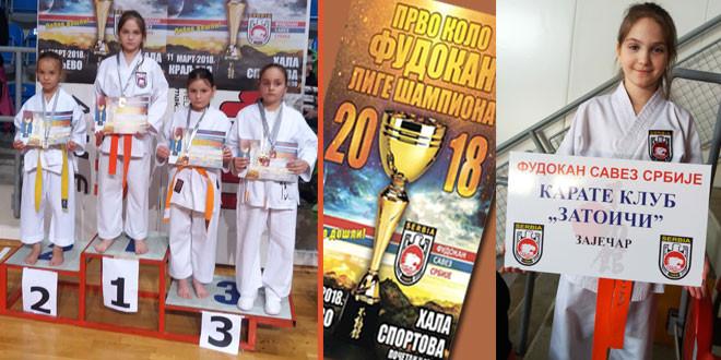 """Karate klub """"Zatoiči"""" vratio se iz Kraljeva sa 7 medalja"""