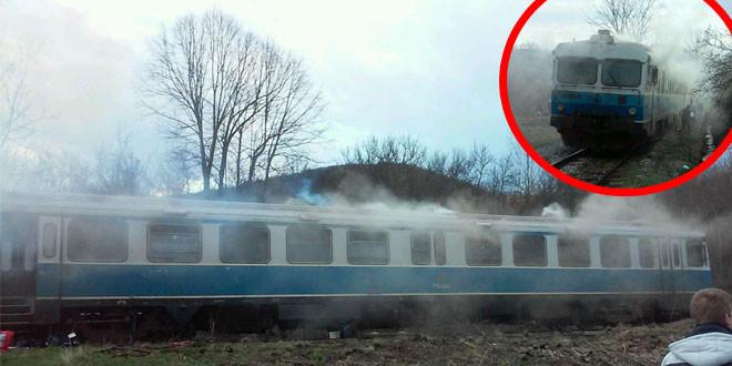 DRAMA NA ŠINAMA Zapalio se voz na pruzi Zaječar – Niš