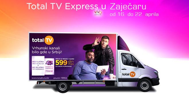 Total TV ekspress na Gradskom trgu u Zaječaru