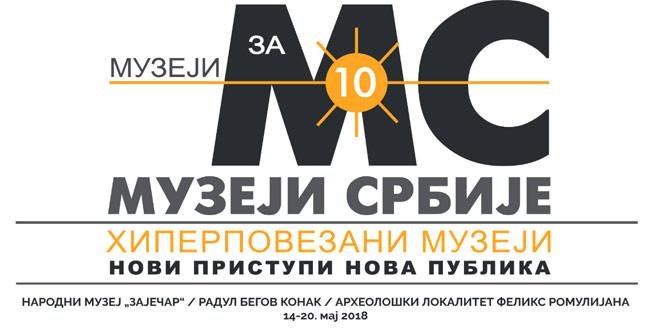 """Nacionalna muzejska manifestacija """"MUZEJI ZA 10″ od 14. do 20. maja u Zaječaru -Evo na kojim lokacijama"""