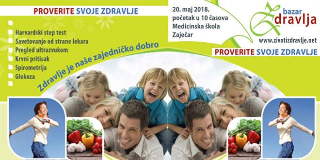 Proverite svoje zdravlje besplatno! POSETITE BAZAR ZDRAVLJA u Medicinskoj školi