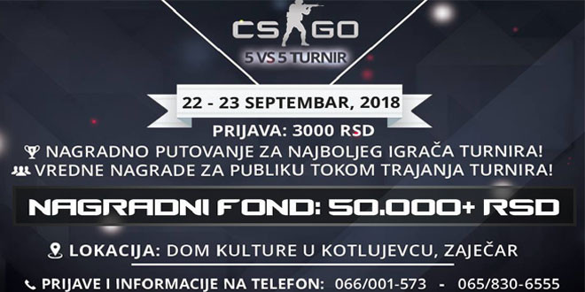 PRIJAVITE SE: Prvi veliki COUNTRE-STRIKE: Global Offensive turnir u Zaječaru