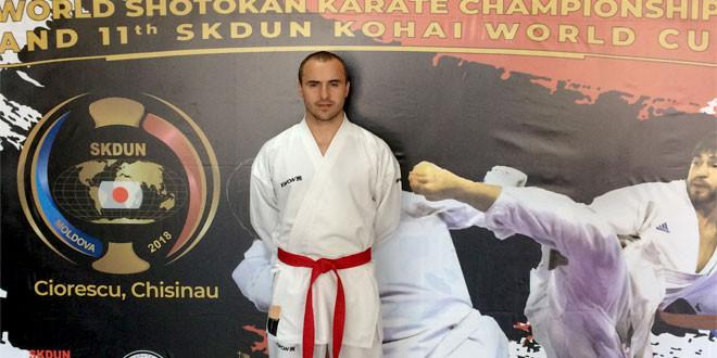 Bojan Andrejić osvojio PETO MESTO na Svetskom šotokan karate šampionatu u Moldaviji