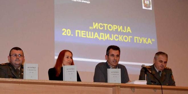 """Promocija reprint izdanja knjige """"Istorija 20. pešadijskog puka"""" 14. marta"""