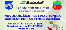 Tradicionalni NOVOGODIŠNJI FESTIVAL TENISA 23. decembra