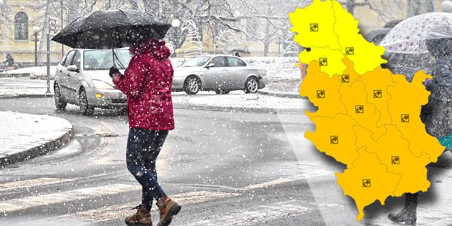Istočna Srbija pod snegom -RHMZ: Sutra značajno povećanje visine snežnog pokrivača