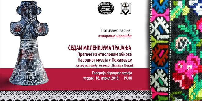 "Zaječar: Etno izložba ""SEDAM MILENIJUMA TRAJANJA"" pregače iz etnološke zbirke Narodnog muzeja u Požarevcu"
