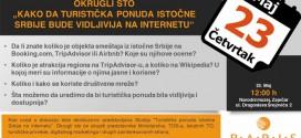 """Zaječar: Okrugli sto """"Kako da turistička ponuda istočne Srbije bude dostupnija online"""""""