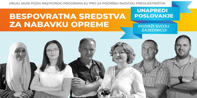 EU PRO objavio drugi poziv za dodelu bespovratnih sredstava preduzetnicima, mikro i malim preduzećima