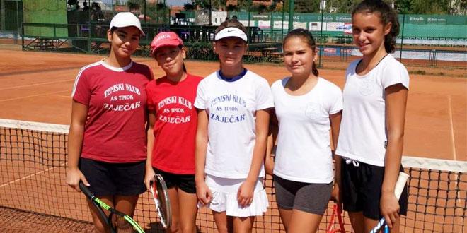 Zaječarske teniserke na Državnom ekipnom takmičenju u Čačku