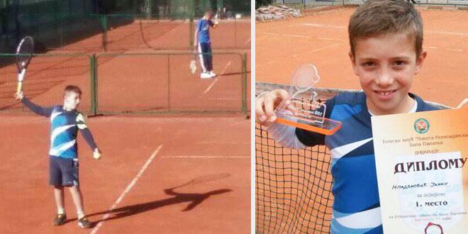 Još jedan pobednički pehar za zaječarskog tenisera Janka Mladenovića
