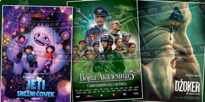 Vojna akademija 5, Džoker i Jeti za vikend na velikom platnu u Kotlujevcu