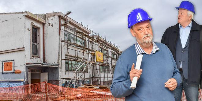IZBEGNUTA NESREĆA – Prilikom radova na rekonstrukciji škole utvrđeno veliko ulegnuće ploče -Projektant: Za 30 godina prvi put vidim ovako nešto
