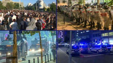Photo of PROTESTI U SRBIJI – sukobi, tuče, suzavac
