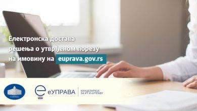 Photo of REŠENJA o utvrđanom  porezu na imovinu na Portalu eUprava